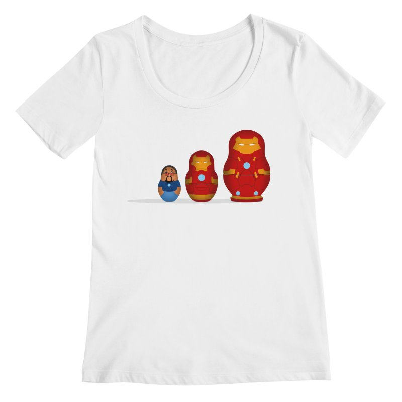 Iron Baboesjka Women's Scoopneck by Bavo's Artist Shop