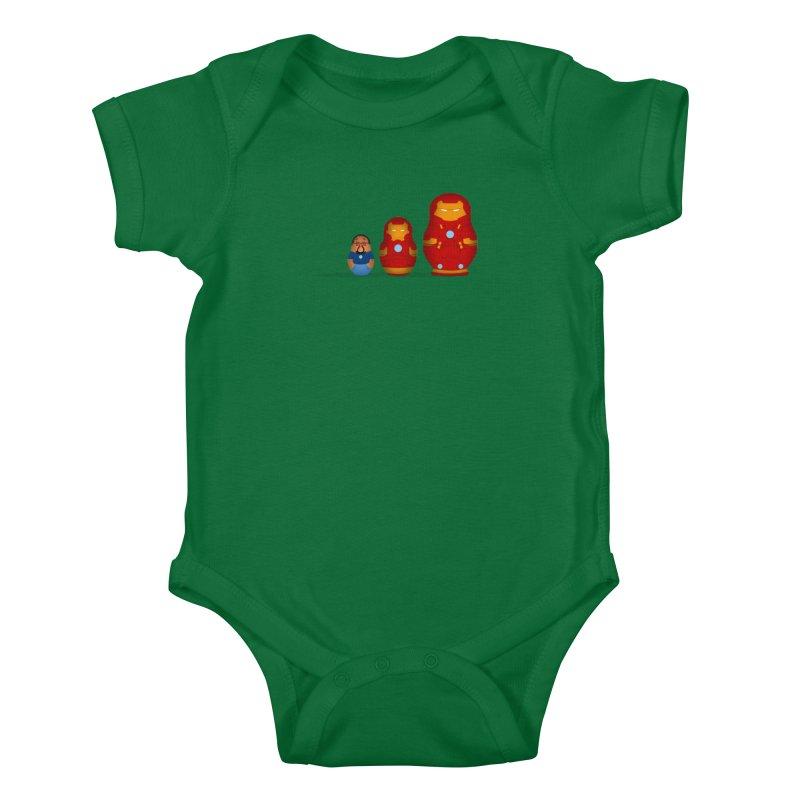 Iron Baboesjka Kids Baby Bodysuit by Bavo's Artist Shop