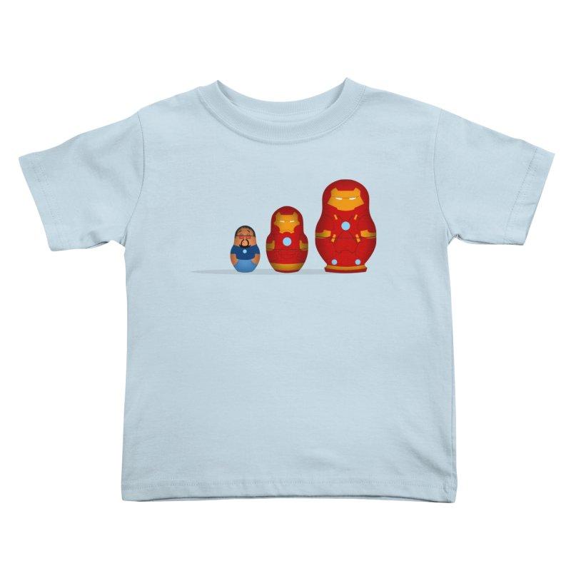 Iron Baboesjka Kids Toddler T-Shirt by Bavo's Artist Shop