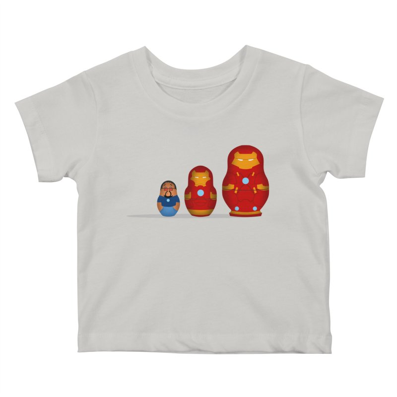 Iron Baboesjka Kids Baby T-Shirt by Bavo's Artist Shop
