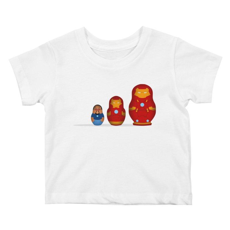 Iron Baboesjka Kids Baby T-Shirt by Bavo's Artist Shop