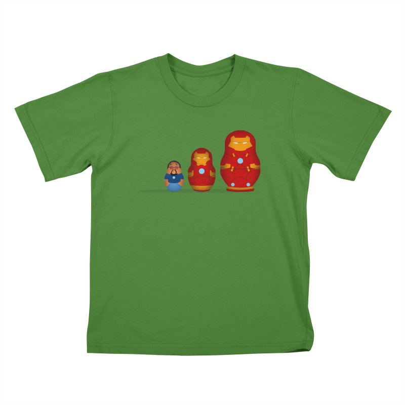 Iron Baboesjka Kids T-Shirt by Bavo's Artist Shop