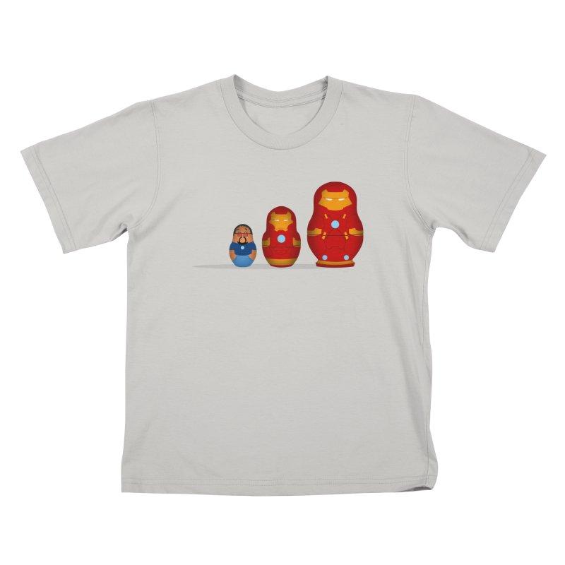 Iron Baboesjka Kids T-shirt by Bavo's Artist Shop