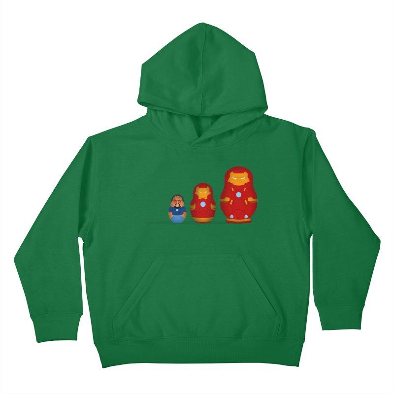 Iron Baboesjka Kids Pullover Hoody by Bavo's Artist Shop