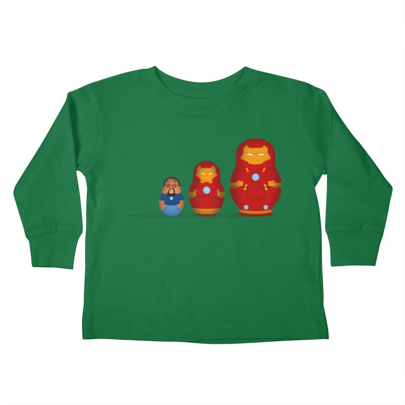 Iron Baboesjka Kids Toddler Longsleeve T-Shirt by Bavo's Artist Shop