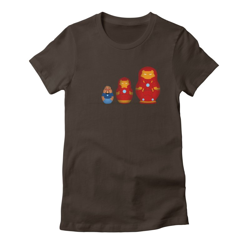 Iron Baboesjka Women's Fitted T-Shirt by Bavo's Artist Shop