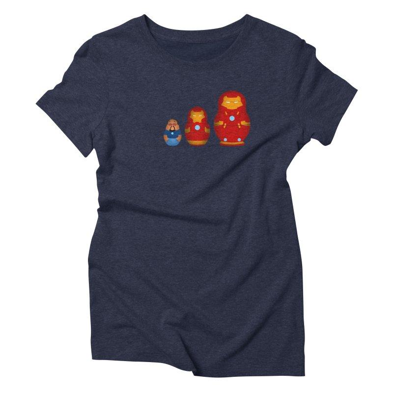 Iron Baboesjka Women's Triblend T-shirt by Bavo's Artist Shop