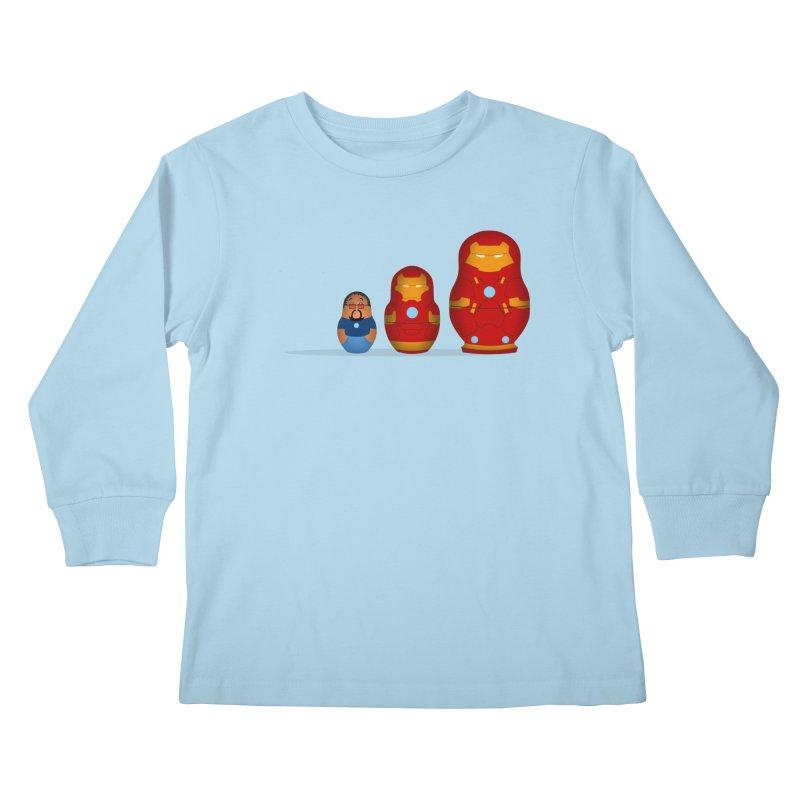 Iron Baboesjka Kids Longsleeve T-Shirt by Bavo's Artist Shop