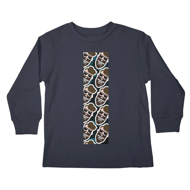 BeardedGuy Kids Longsleeve T-Shirt by Beardedguy's Shop