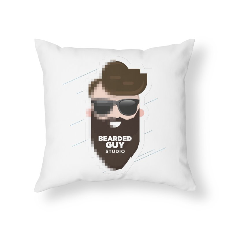 Blurrrry Guy Home Throw Pillow by Beardedguy's Shop