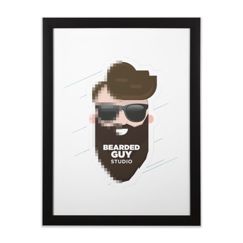 Blurrrry Guy Home Framed Fine Art Print by Beardedguy's Shop