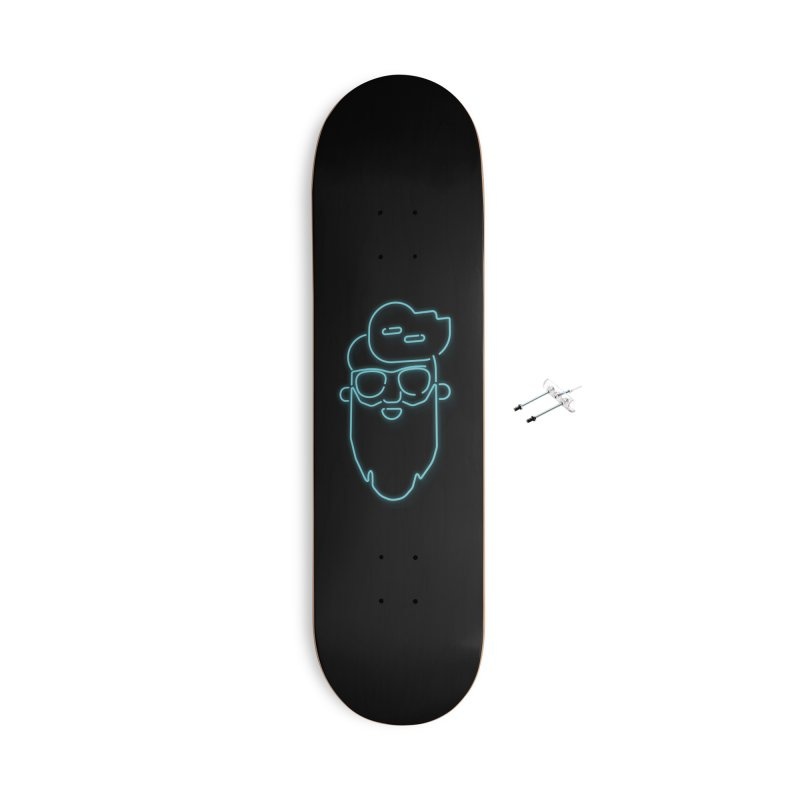 Neon BeardedGuy Accessories With Hanging Hardware Skateboard by Beardedguy's Shop