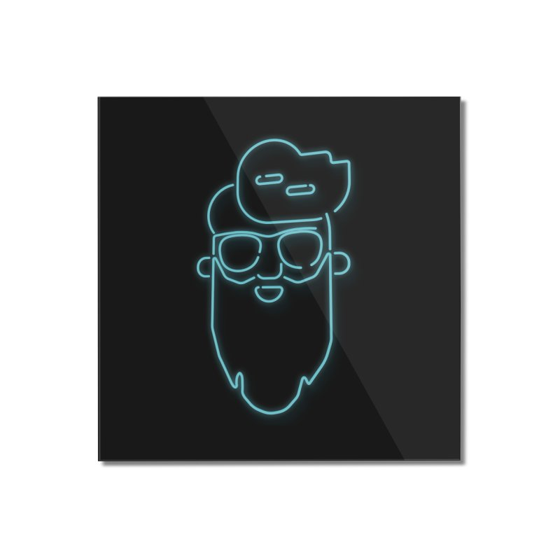 Neon BeardedGuy Home Mounted Acrylic Print by Beardedguy's Shop