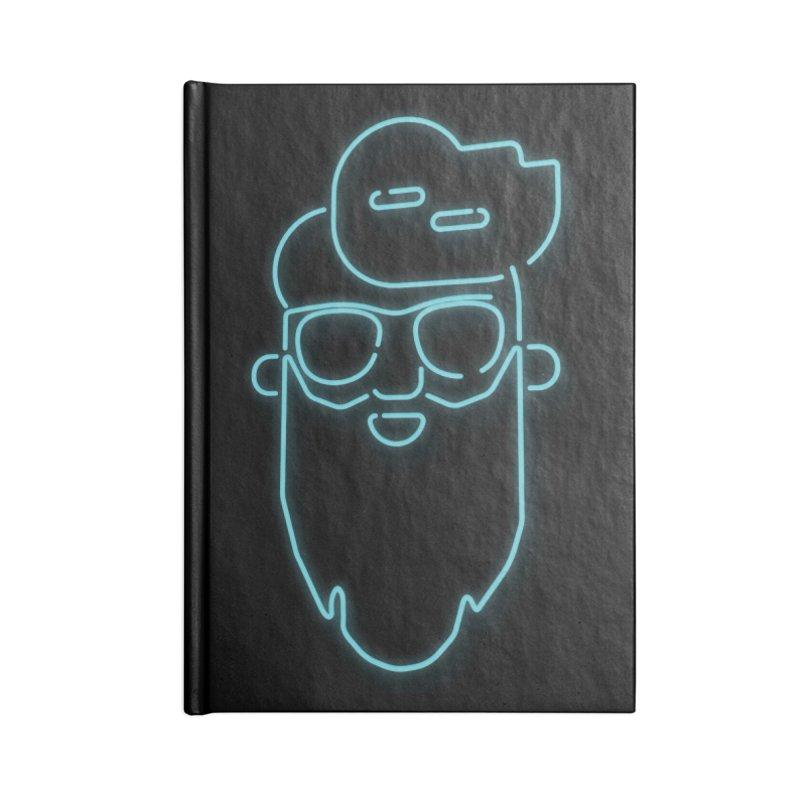 Neon BeardedGuy Accessories Blank Journal Notebook by Beardedguy's Shop