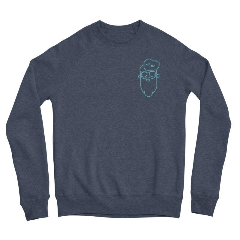 Neon BeardedGuy Men's Sponge Fleece Sweatshirt by Beardedguy's Shop