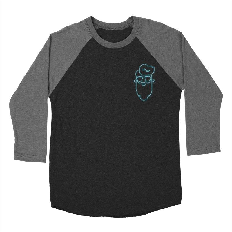 Neon BeardedGuy Women's Baseball Triblend Longsleeve T-Shirt by Beardedguy's Shop