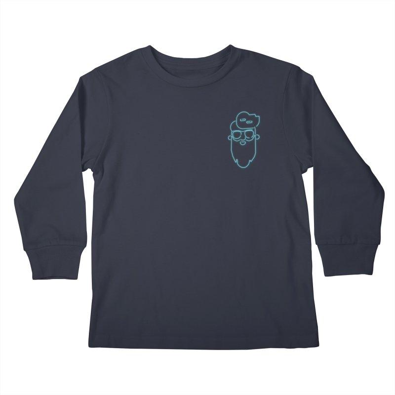 Neon BeardedGuy Kids Longsleeve T-Shirt by Beardedguy's Shop