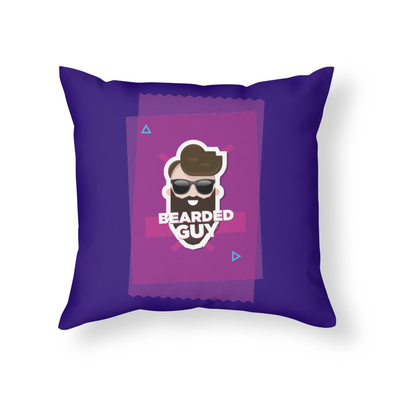 ZIG-ZAG SUMMER VIBE Home Throw Pillow by Beardedguy's Shop
