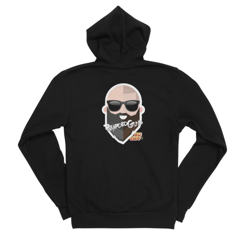 OZ&JAY - BEARDEDGUYS Men's Sponge Fleece Zip-Up Hoody by Beardedguy's Shop