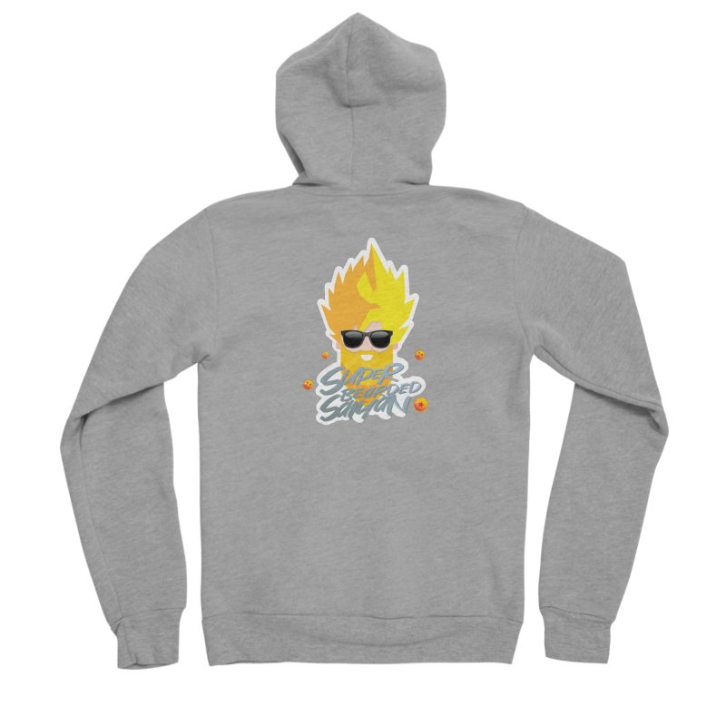 SUPER BEARDED SAIYAN Women's Sponge Fleece Zip-Up Hoody by Beardedguy's Shop