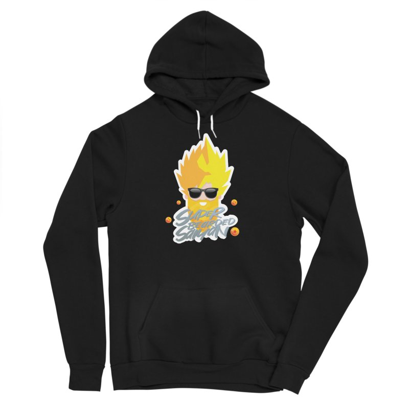 SUPER BEARDED SAIYAN Men's Sponge Fleece Pullover Hoody by Beardedguy's Shop