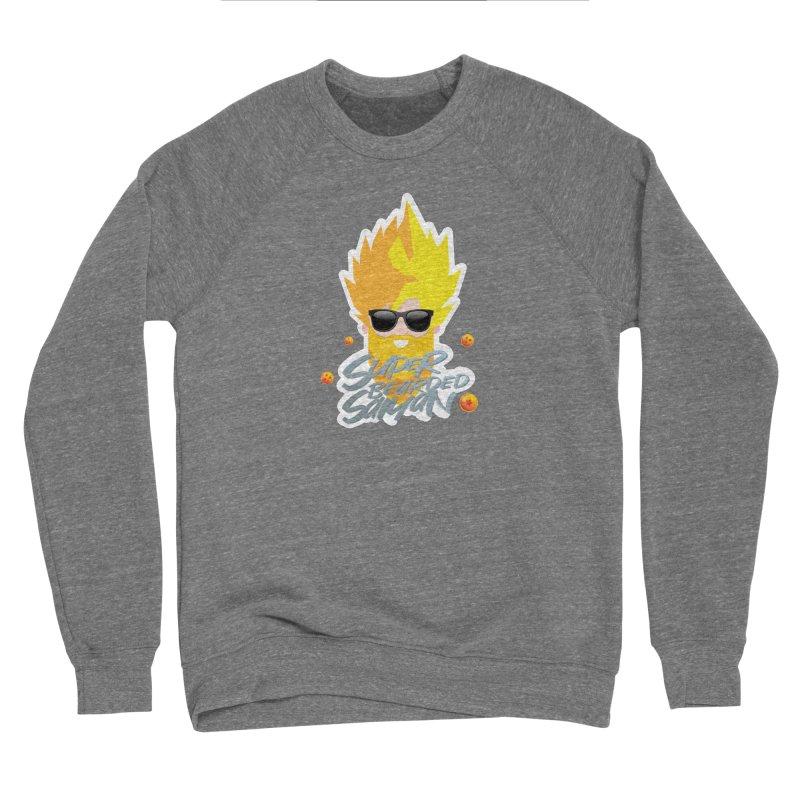 SUPER BEARDED SAIYAN Men's Sponge Fleece Sweatshirt by Beardedguy's Shop