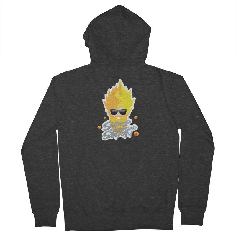 SUPER BEARDED SAIYAN Men's French Terry Zip-Up Hoody by Beardedguy's Shop