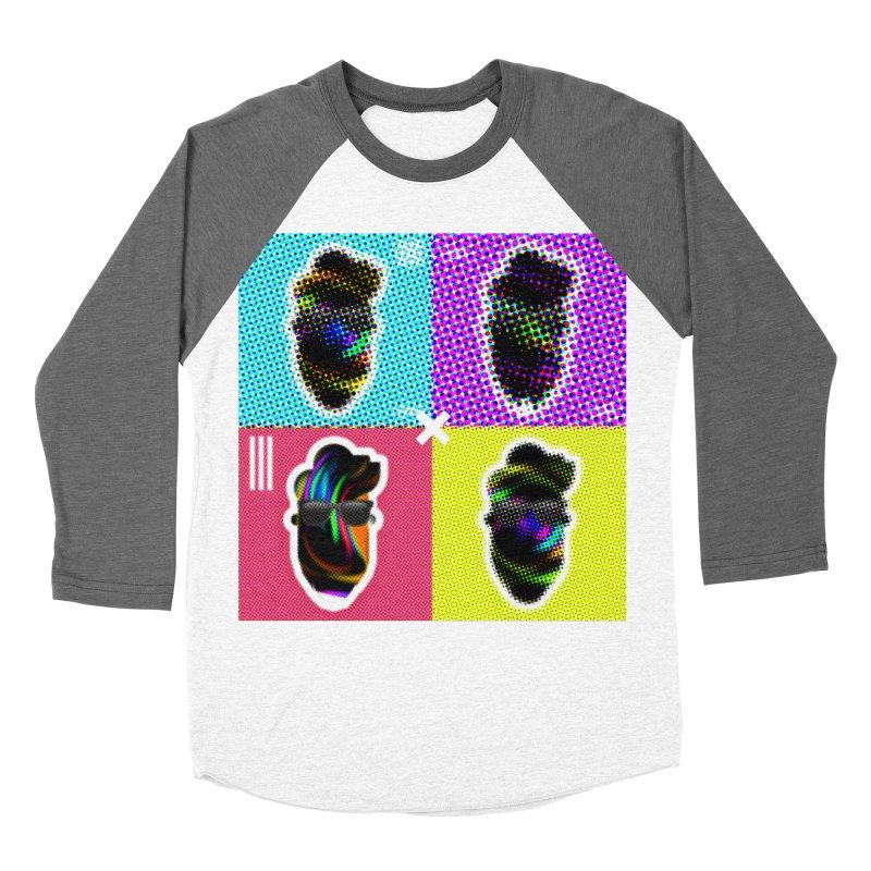 DOTTED BeardedGuy Women's Baseball Triblend Longsleeve T-Shirt by Beardedguy's Shop