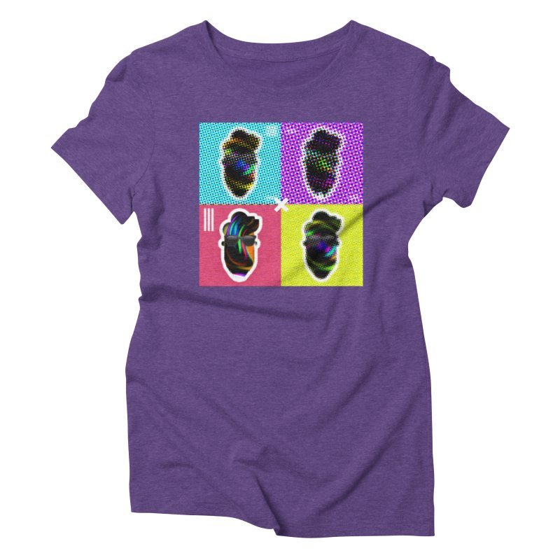 DOTTED BeardedGuy Women's Triblend T-Shirt by Beardedguy's Shop
