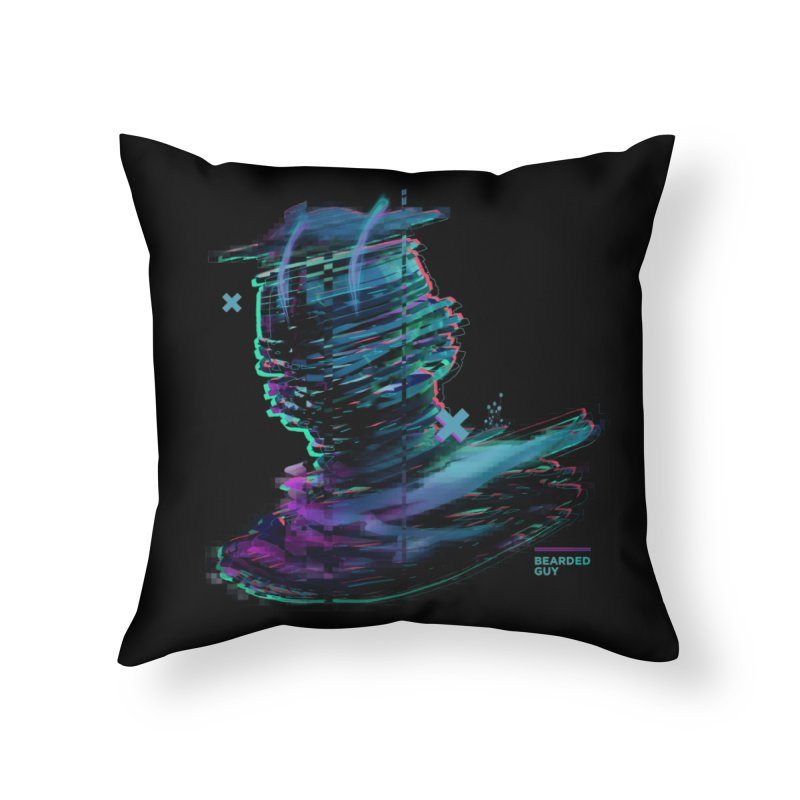 Ribbon Head Home Throw Pillow by Beardedguy's Shop
