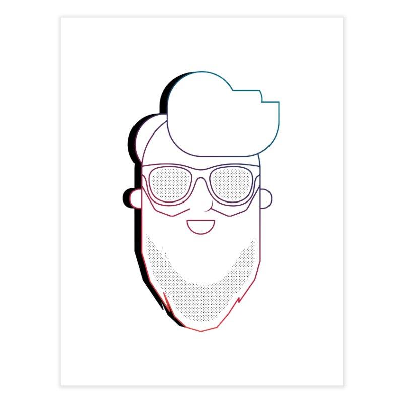 Beardedlines & dots Home Fine Art Print by Beardedguy's Shop