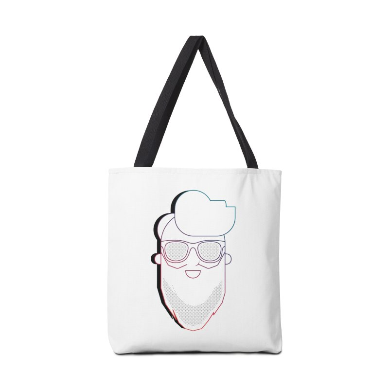 Beardedlines & dots Accessories Tote Bag Bag by Beardedguy's Shop