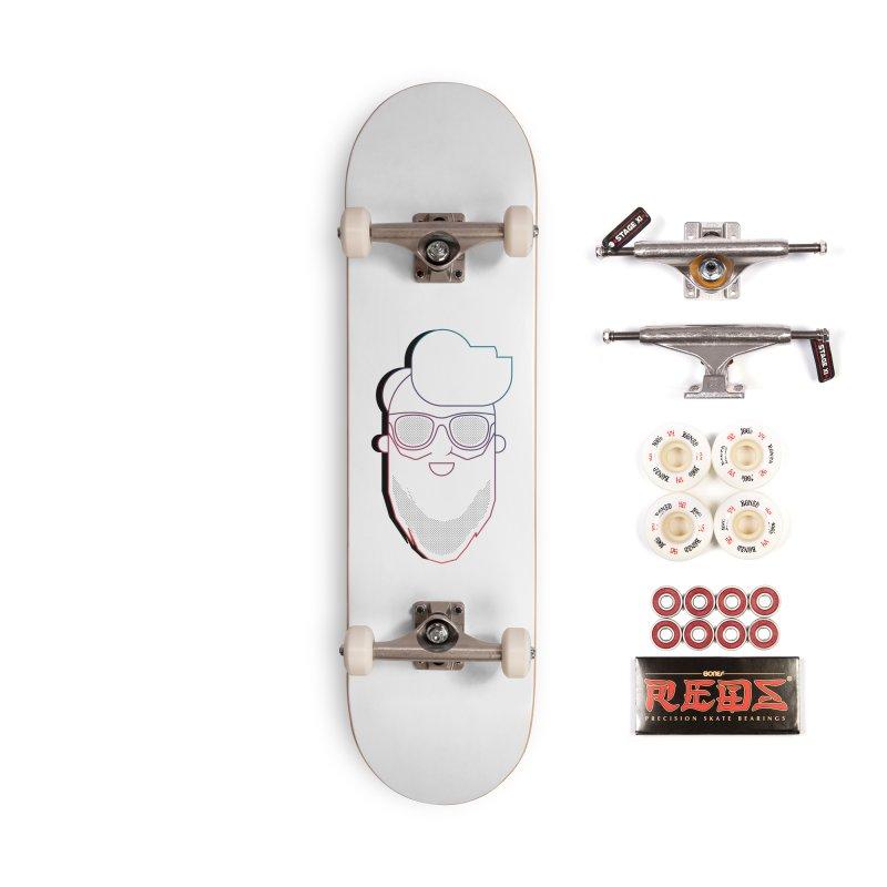 Beardedlines & dots Accessories Complete - Pro Skateboard by Beardedguy's Shop
