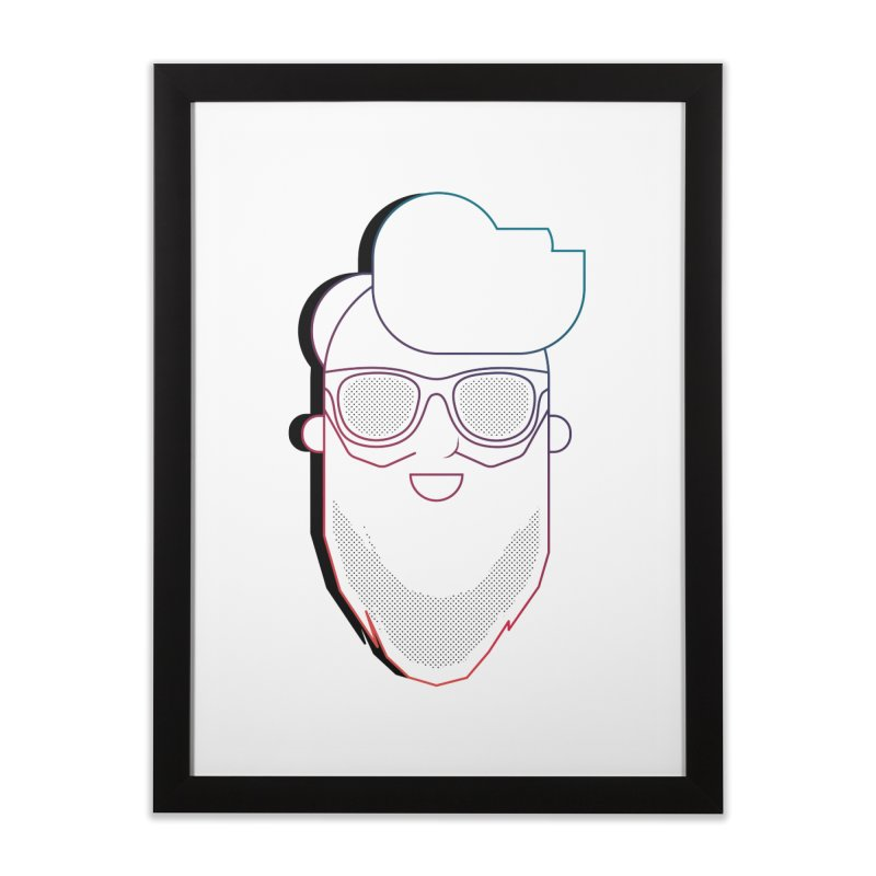 Beardedlines & dots Home Framed Fine Art Print by Beardedguy's Shop