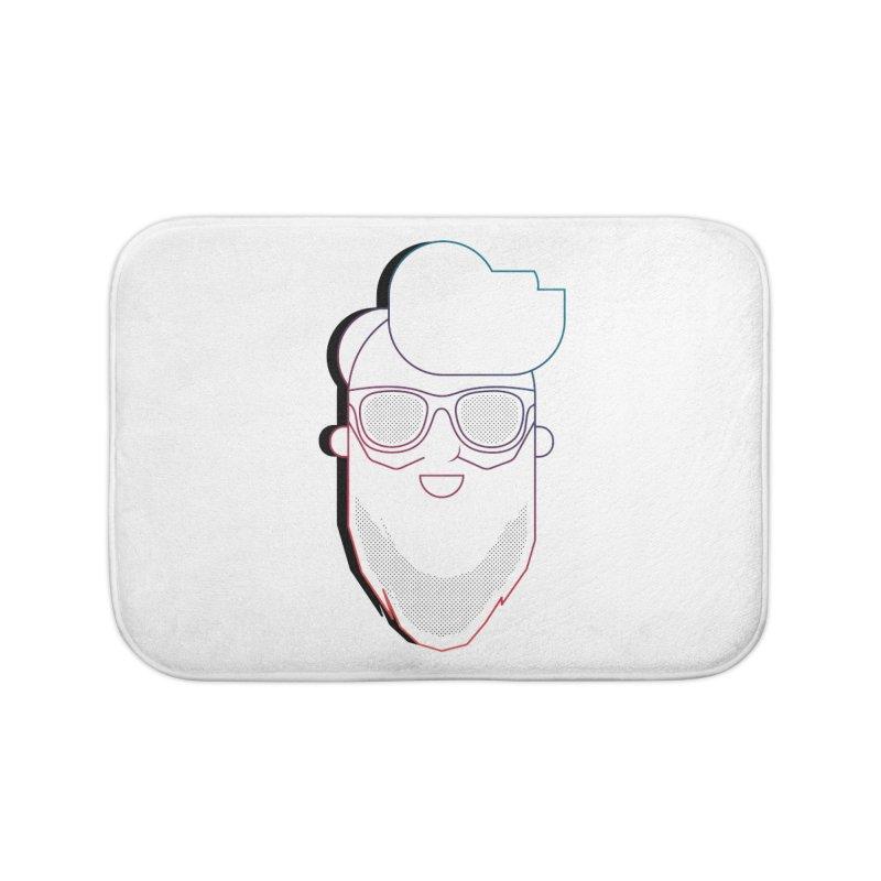 Beardedlines & dots Home Bath Mat by Beardedguy's Shop