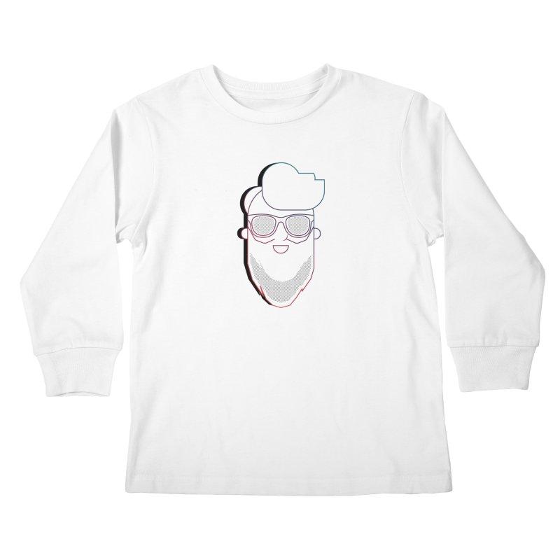 Beardedlines & dots Kids Longsleeve T-Shirt by Beardedguy's Shop
