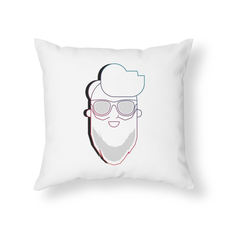 Beardedlines & dots Home Throw Pillow by Beardedguy's Shop