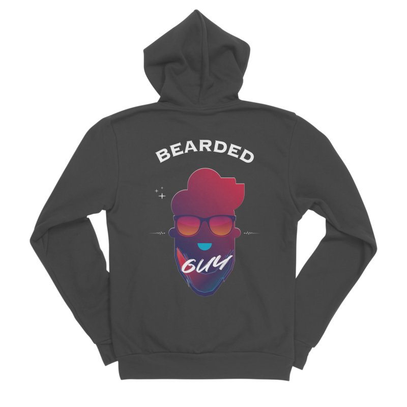 StrangerBeardedguy Women's Sponge Fleece Zip-Up Hoody by Beardedguy's Shop