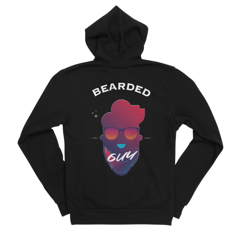 StrangerBeardedguy Men's Sponge Fleece Zip-Up Hoody by Beardedguy's Shop