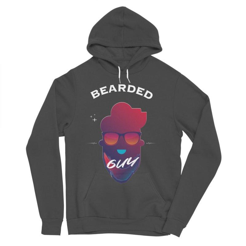 StrangerBeardedguy Men's Sponge Fleece Pullover Hoody by Beardedguy's Shop