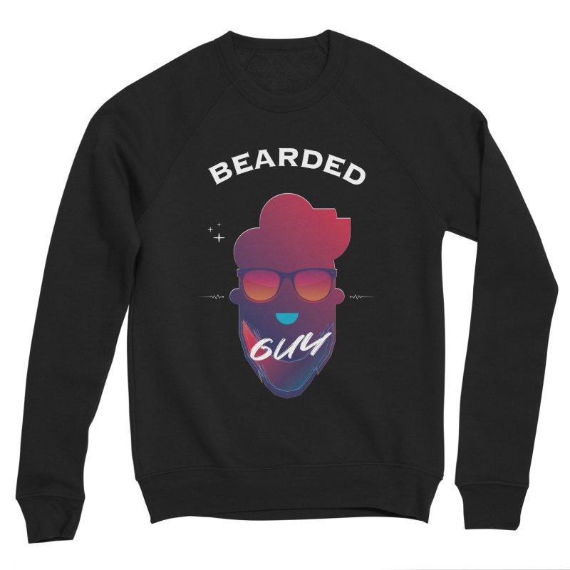 StrangerBeardedguy Men's Sponge Fleece Sweatshirt by Beardedguy's Shop