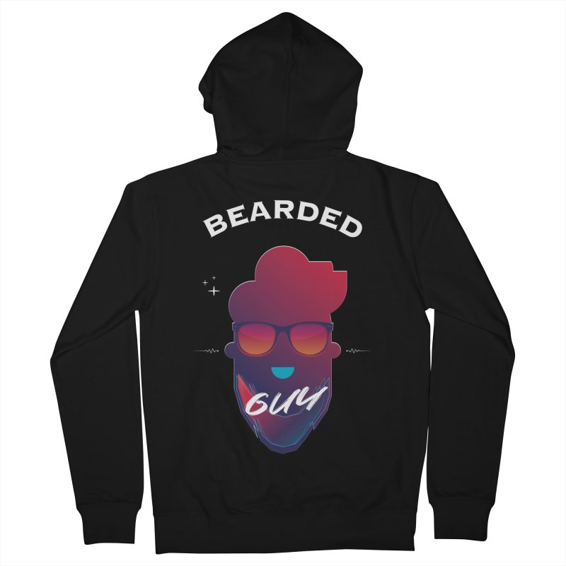 StrangerBeardedguy Men's French Terry Zip-Up Hoody by Beardedguy's Shop