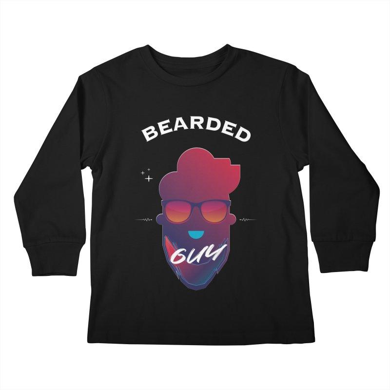 StrangerBeardedguy Kids Longsleeve T-Shirt by Beardedguy's Shop