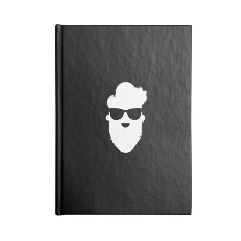 White Beard Guy Accessories Blank Journal Notebook by Beardedguy's Shop