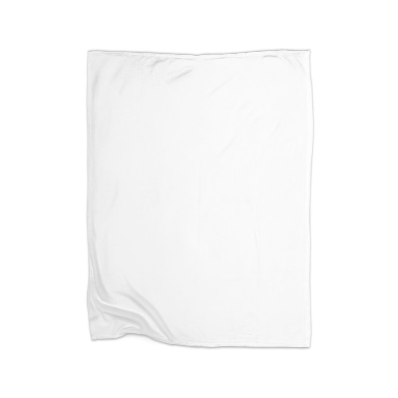 White Beard Guy Home Fleece Blanket Blanket by Beardedguy's Shop