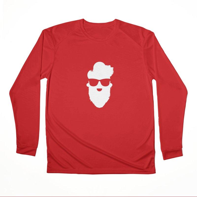 White Beard Guy Men's Performance Longsleeve T-Shirt by Beardedguy's Shop