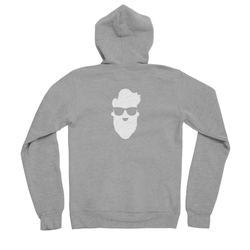 White Beard Guy Women's Sponge Fleece Zip-Up Hoody by Beardedguy's Shop