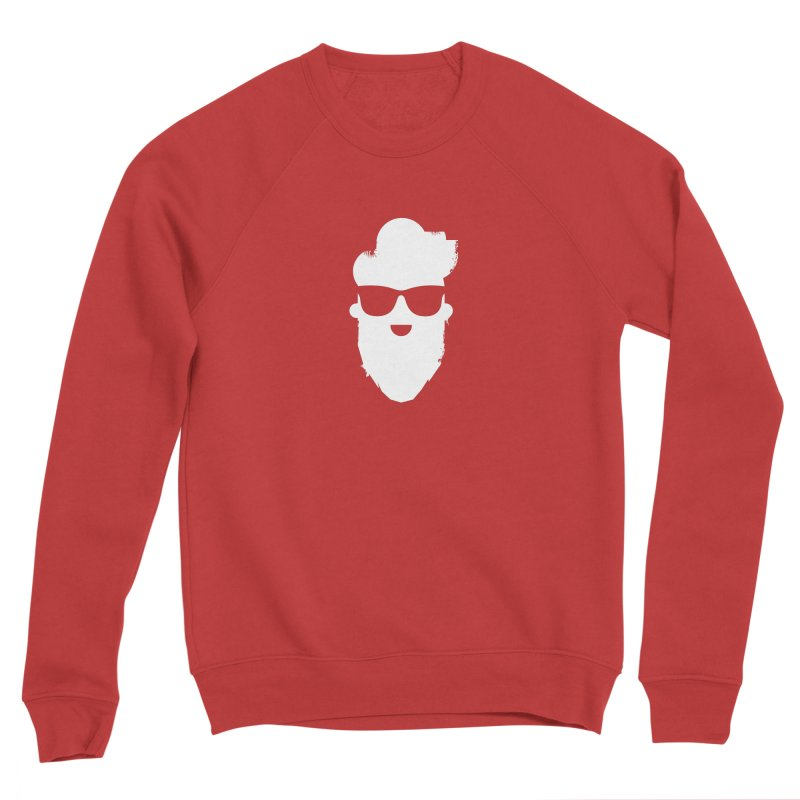 White Beard Guy Men's Sponge Fleece Sweatshirt by Beardedguy's Shop