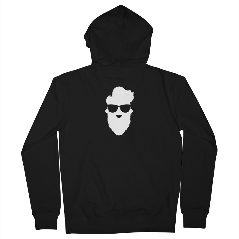 White Beard Guy Men's French Terry Zip-Up Hoody by Beardedguy's Shop