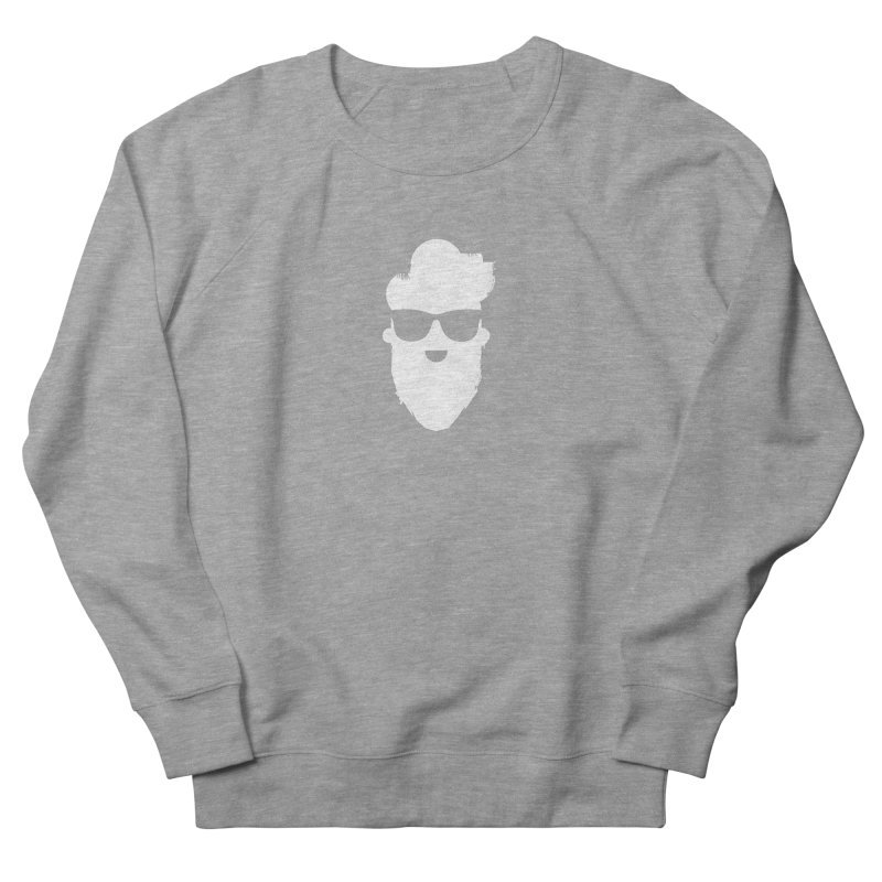 White Beard Guy Men's French Terry Sweatshirt by Beardedguy's Shop